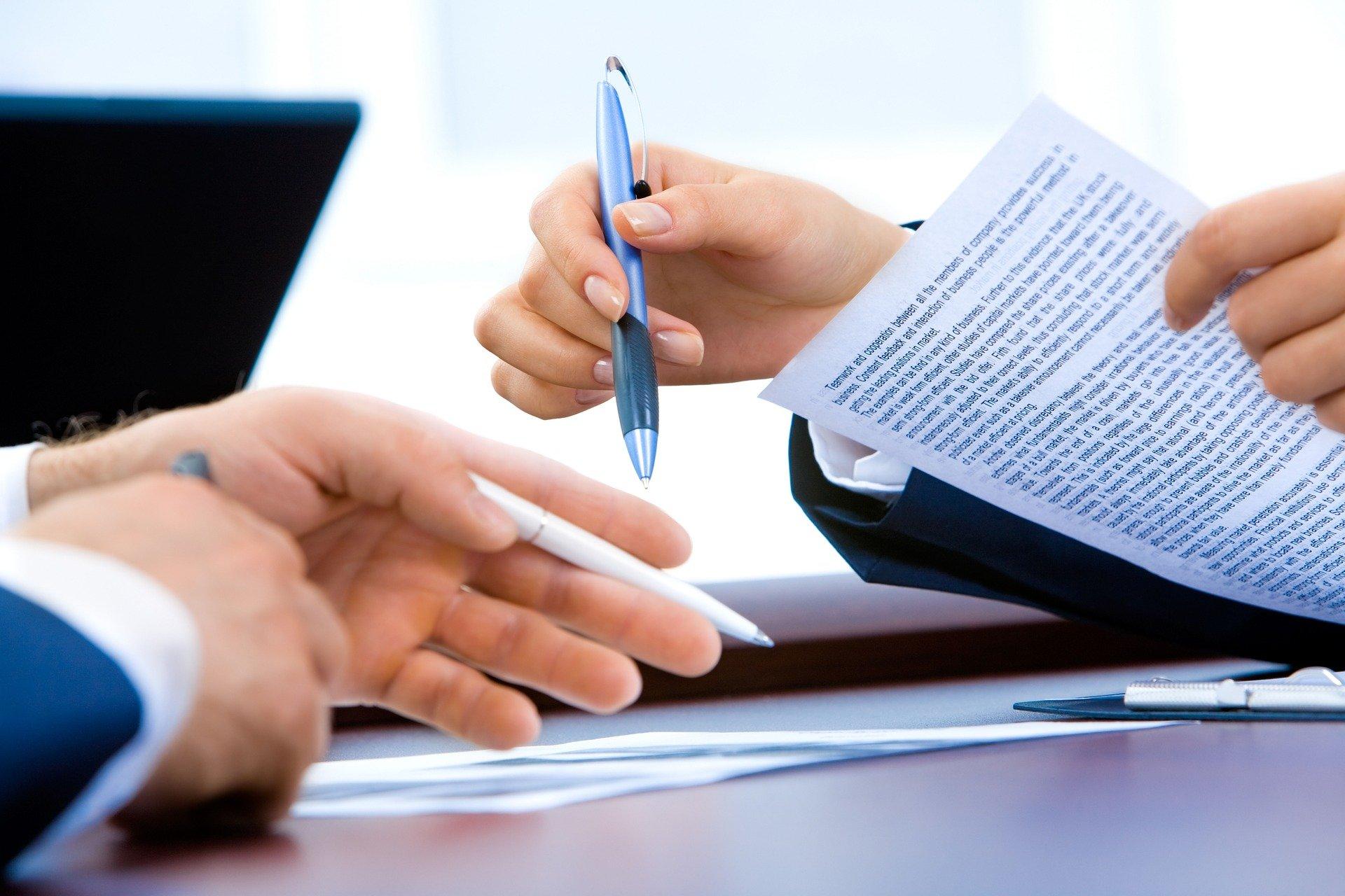business loan meeting